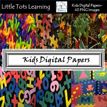 Toys Digital Papers - Kids Digital Papers - Commercial Use