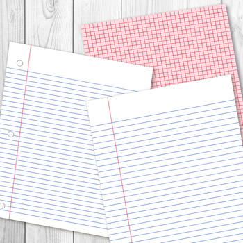 Digital Papers Preschool Writing Paper Math Graph Paper Lined