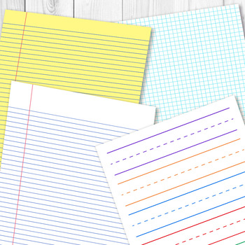 Digital Papers Preschool Writing Paper Math Graph Paper Lined Papers