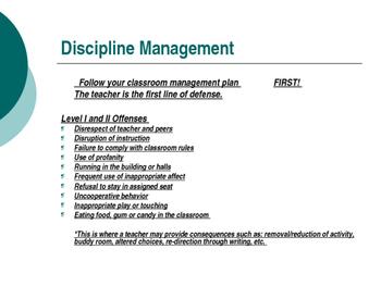 School Discipline PPT