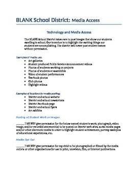 School District or School Social Media Workpack and Policy