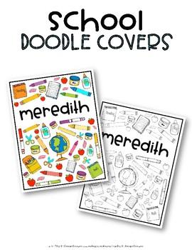 School Doodle Covers {EDITABLE}