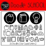 School Doodle FONT {Creative Clips Clipart}