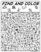 School Doodle Find Visual Perceptual Game