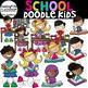 School Doodle Kids Bundle {School Kids Clip Art}