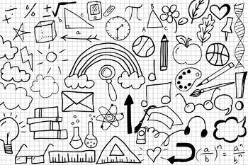 School Doodles Clipart