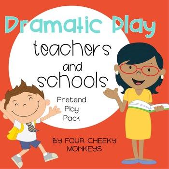 School Dramatic Play Pack   School and Teachers Pretend Play