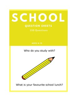 School - ESL Question Sheets (Ages 6-12)