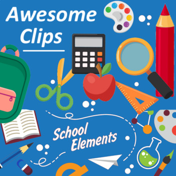 School Elements Clipart (Awesome clips by Lollipop)