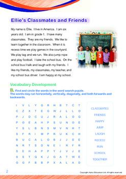 School - Ellie's Classmates and Friends - Grade 1