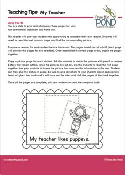 School Emergent Reader {Perfect first reader for kindergarten}