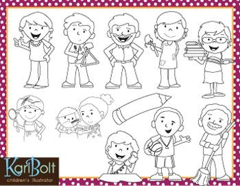 School Employees Clip Art