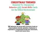 School Enviroment Behavior & Social Skills Card Game~Christmas Themed
