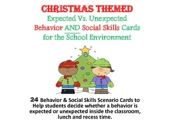 School Enviroment Behavior & Social Skills Card Game~Christmas Themed
