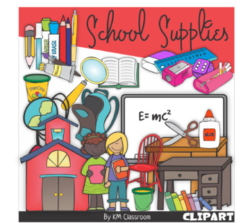 School Supplies Clip Art Back to School