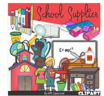 School Equipments Clip Art