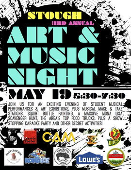school event advertisement posters flyers art music night tpt