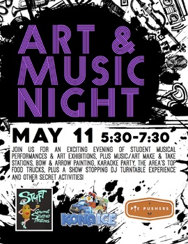 School Event Advertisement (Posters & Flyers) Art & Music Night - Version 2