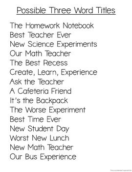 School Events Three Word Phrase Writing Station BUNDLE