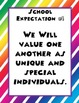 School Expectations Posters- colorful theme