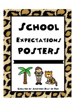 School Expectations Posters- leopard theme