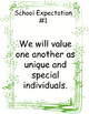 School Expectations Posters-musical theme