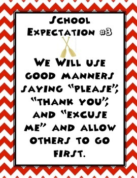 School Expectations Posters-nautical theme