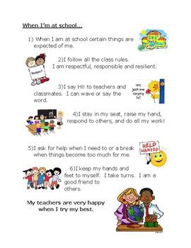 School Expectations Social Story