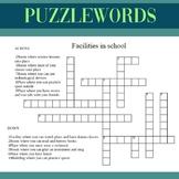 School Facilities Puzzle Words EFL beginners