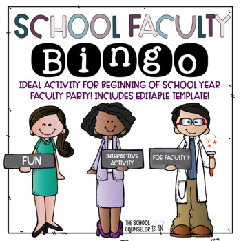 School Faculty BINGO Game [Editable]