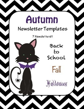 Fall Newsletter Templates - Set of 7