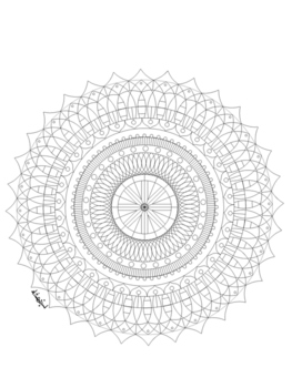 Coloring Book: School Favorites 40 Mandala Creative Designs for all ages Clipart