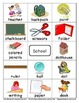 School Flashcards Theme Words Poster Vocabulary Pictionary