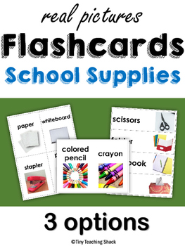 School Flashcards with Real Photos