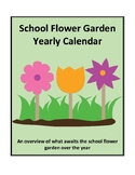 School Flower Garden Yearly Calendar