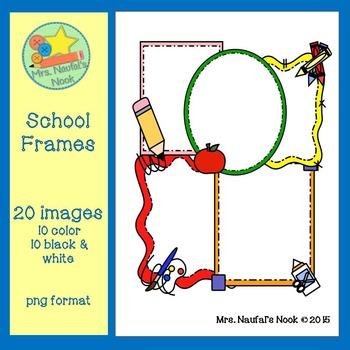 School Frames Clip Art