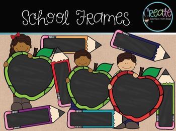 School Frames - Digital Clipart