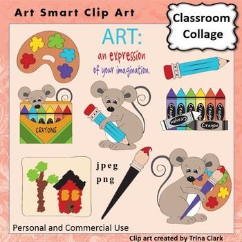 Art Smart Clip Art - Color  personal & commercial use