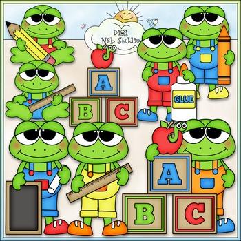 School Frogs Clip Art - Back To School Clip Art - CU Clip
