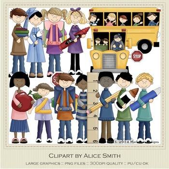 School Fun Clip Art Graphics by Alice Smith