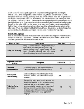 Speech Therapy-Physical Therapy-Occupational-School Functional Assessment (SFA)