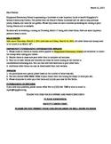 School Fundraising Parent Letter