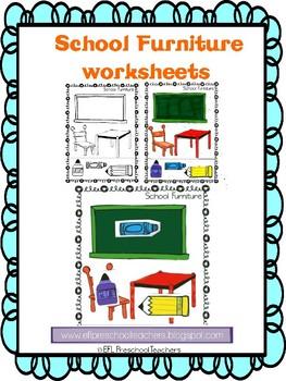 School Furniture Worksheets for ELL