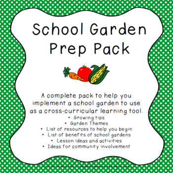 Starting a School Garden - Resources and Activities by Creative Literacy