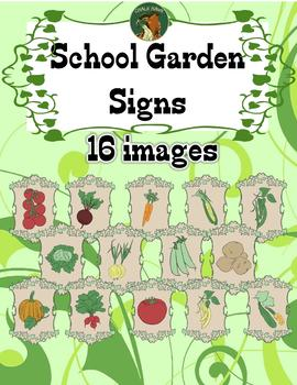 School Garden Signs Clip Art