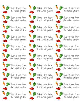 School Garden Stickers