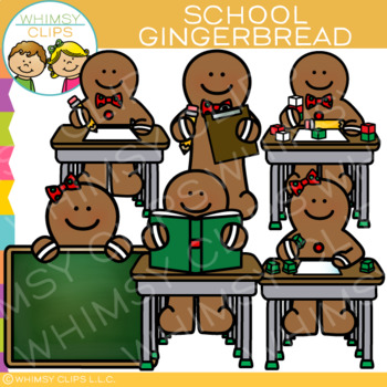 School Gingerbread Clip Art