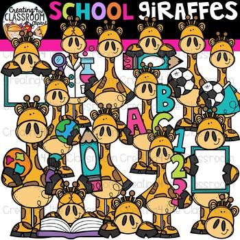 School Giraffes Clipart {Giraffe Clipart}
