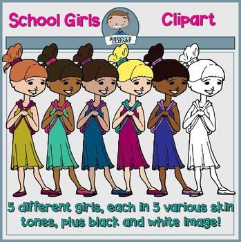 School Girls Clipart