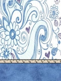 School Girl's Sketch in Blue Printables for Binders and Cl